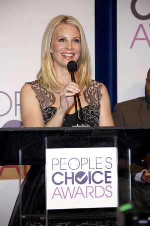 nominations: BEVERLY HILLS, CA - NOVEMBER 15, 2012: Monica Potter at the People's Choice Awards 2013 Nominations held at the Paley Center in Beverly Hills, USA on November 15, 2012.