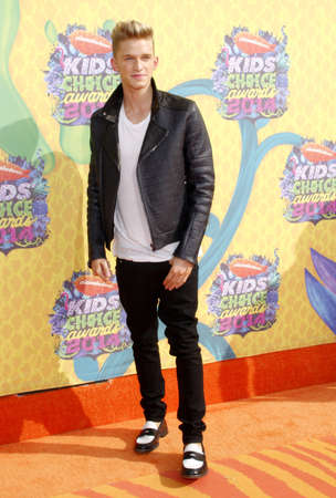 cody: Cody Simpson at the Nickelodeons 27th Annual Kids Choice Awards held at the USC Galen Center in Los Angeles on March 29, 2014 in Los Angeles, California.