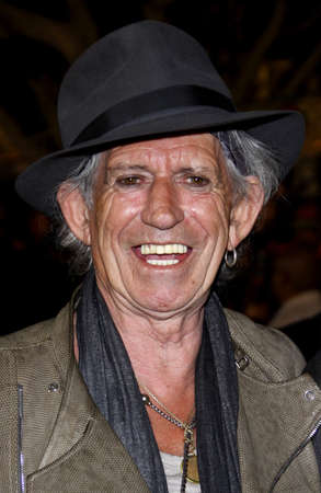 Keith Richards at the Los Angeles premiere of Pirates Of The Caribbean: On Stranger Tides held at the Disneyland in Anaheim on May 7, 2011.