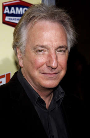 Alan Rickman at the Los Angeles premiere of 'Nobel Son' held at the Egyptian Theater in Hollywood on December 2, 2008. Stok Fotoğraf - 56848165