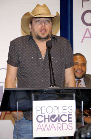 nominations: BEVERLY HILLS, CA - NOVEMBER 15, 2012: Jason Aldean at the Peoples Choice Awards 2013 Nominations held at the Paley Center in Beverly Hills, USA on November 15, 2012.