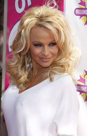 baywatch: Pamela Anderson and PETA create the First ALL-VEGAN Shake held at the Millions of Milkshakes in West Hollywood, USA on April 9, 2010.