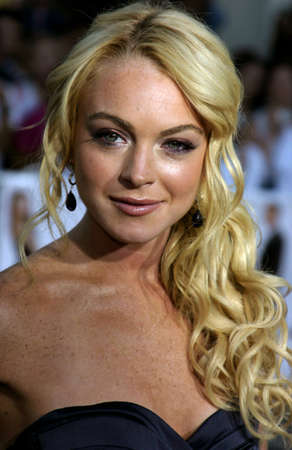 Lindsay Lohan at the Los Angeles Premiere of Mr. & Mrs. Smith held at the Manns Village Theater in Westwood, USA on June 7, 2005. Editorial