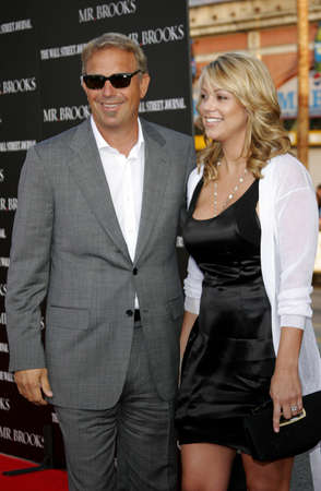 christine: Christine Baumgartner and Kevin Costner at the Los Angeles Premiere of Mr. Brooks held at the Graumans Chinese Theater in Hollywood on May 22, 2007.
