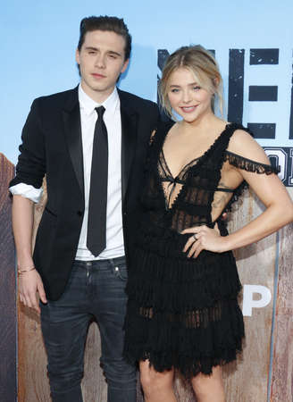 sorority: Chloe Grace Moretz and Brooklyn Beckham at the Los Angeles premiere of Neighbors 2: Sorority Rising held at the Regency Village Theatre in Westwood, USA on May 16, 2016.