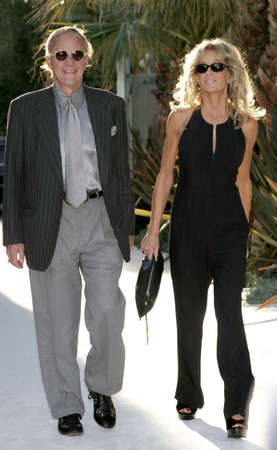 remembering: HOLLYWOOD, CA - OCTOBER 05, 2005: Farrah Fawcett and Jay Bernstein at the remembering Rodney Dangerfield held at at the home of Joan Dangerfield in Hollywood, USA on October 5, 2005.