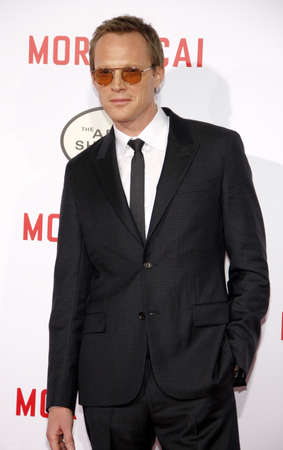 premiere: Paul Bettany at the Los Angeles premiere of Mortdecai held at the TCL Chinese Theater in Hollywood on January 21, 2015.