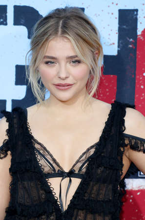 Chloe Grace Moretz at the Los Angeles premiere of 'Neighbors 2: Sorority Rising' held at the Regency Village Theatre in Westwood, USA on May 16, 2016.