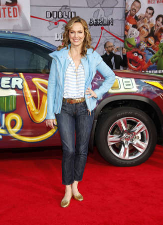 premiere: Melora Hardin at the Los Angeles premiere of Muppets Most Wanted held at the El Capitan Theatre in Los Angeles, United States, 110314.