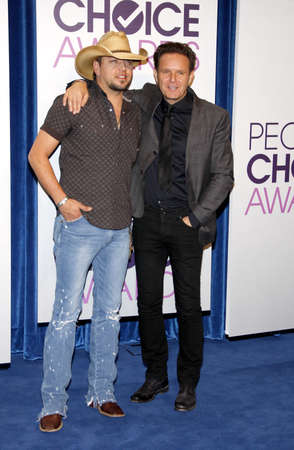 nominations: Jason Aldean and Mark Burnett at the Peoples Choice Awards 2013 Nominations held at the Paley Center in Beverly Hills, USA on November 15, 2012.