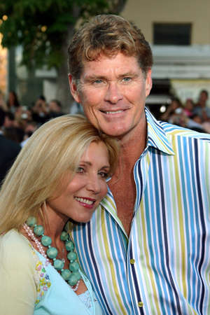 mr and mrs: David Hasselhoff and Pamela Bach Hasselhoff at the Los Angeles Premiere of Mr. & Mrs. Smith held at the Manns Village Theater in Westwood, USA on June 7, 2005. Editorial