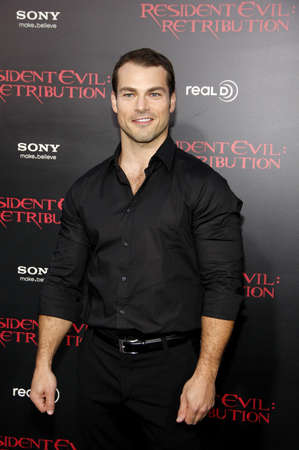 retribution: Shawn Roberts at the Los Angeles premiere of Resident Evil: Retribution held at the Regal Cinemas L.A. Live in Los Angeles, USA on September 12, 2012.