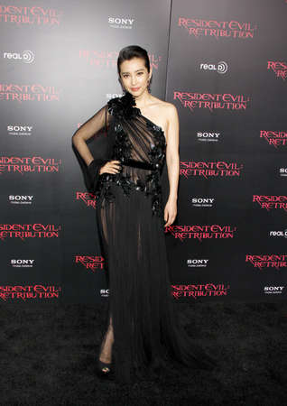 Li Bingbing at the Los Angeles premiere of Resident Evil: Retribution held at the Regal Cinemas L.A. Live in Los Angeles, USA on September 12, 2012. Editorial