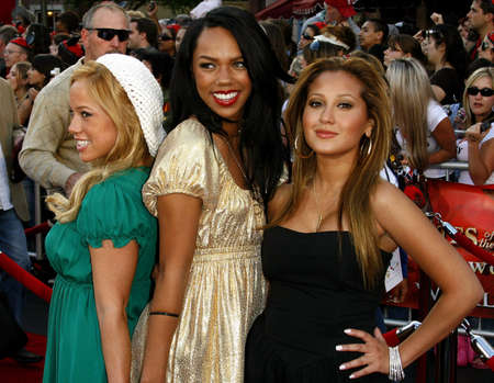 premiere: The Cheetah Girls attend the World Premiere of Pirates of the Caribbean: At Worlds End held at Disneyland in Anaheim, California on May 19, 2007.