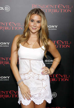 Alexa Vega at the Los Angeles premiere of Resident Evil: Retribution held at the Regal Cinemas L.A. Live in Los Angeles, USA on September 12, 2012. Editorial