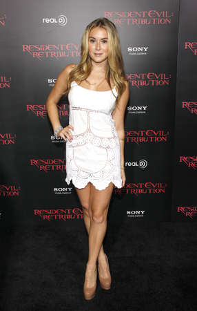 alexa: Alexa Vega at the Los Angeles premiere of Resident Evil: Retribution held at the Regal Cinemas L.A. Live in Los Angeles, USA on September 12, 2012. Editorial