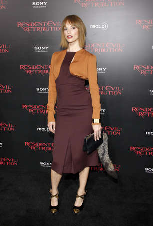 retribution: Sienna Guillory at the Los Angeles premiere of Resident Evil: Retribution held at the Regal Cinemas L.A. Live in Los Angeles, USA on September 12, 2012. Editorial