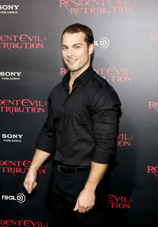 roberts: Shawn Roberts at the Los Angeles premiere of Resident Evil: Retribution held at the Regal Cinemas L.A. Live in Los Angeles, USA on September 12, 2012.