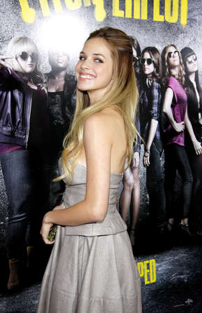 Alexis Knapp at the Los Angeles premiere of Pitch Perfect held at the ArcLight Cinemas in Hollywood, USA on September 24, 2012. Editorial