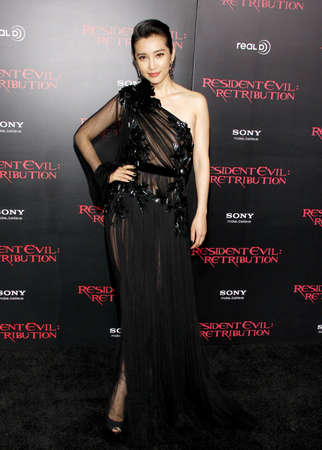 LOS ANGELES, CA - SEPTEMBER 12, 2012: Li Bingbing at the Los Angeles premiere of 'Resident Evil: Retribution' held at the Regal Cinemas L.A. Live in Los Angeles, USA on September 12, 2012. Editorial