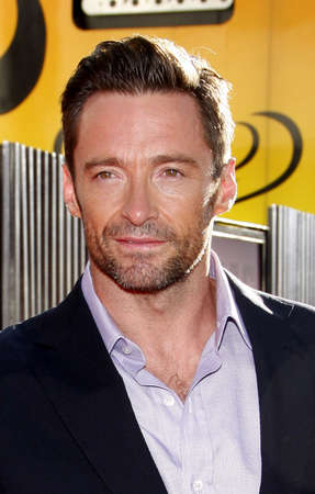 gibson: UNIVERSAL CITY, CA - OCTOBER 02, 2011: Hugh Jackman at the Los Angeles premiere of Real Steel held at the Gibson Amphitheatre in Universal City, USA on October 2, 2011.