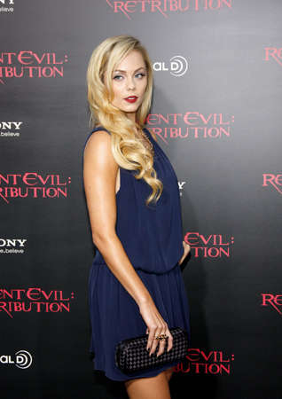 retribution: LOS ANGELES, CA - SEPTEMBER 12, 2012: Laura Vandervoort at the Los Angeles premiere of Resident Evil: Retribution held at the Regal Cinemas L.A. Live in Los Angeles, USA on September 12, 2012.