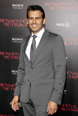 retribution: LOS ANGELES, CA - SEPTEMBER 12, 2012: Oded Fehr at the Los Angeles premiere of Resident Evil: Retribution held at the Regal Cinemas L.A. Live in Los Angeles, USA on September 12, 2012. Editorial