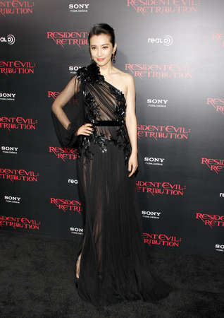LOS ANGELES, CA - SEPTEMBER 12, 2012: Li Bingbing at the Los Angeles premiere of Resident Evil: Retribution held at the Regal Cinemas L.A. Live in Los Angeles, USA on September 12, 2012.
