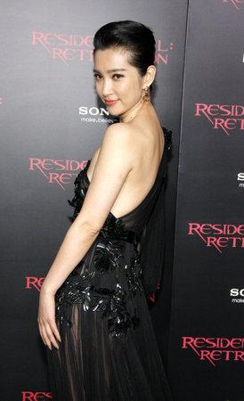retribution: LOS ANGELES, CA - SEPTEMBER 12, 2012: Li Bingbing at the Los Angeles premiere of Resident Evil: Retribution held at the Regal Cinemas L.A. Live in Los Angeles, USA on September 12, 2012.