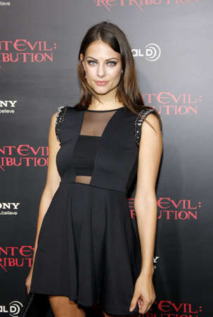 retribution: LOS ANGELES, CA - SEPTEMBER 12, 2012: Julia Voth at the Los Angeles premiere of Resident Evil: Retribution held at the Regal Cinemas L.A. Live in Los Angeles, USA on September 12, 2012.
