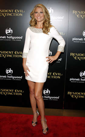 premiere: Ali Larter at the World premiere of Resident Evil: Extinction held at the Planet Hollywood Resort & Casino in Las Vegas, Nevada, USA on September 20, 2007.