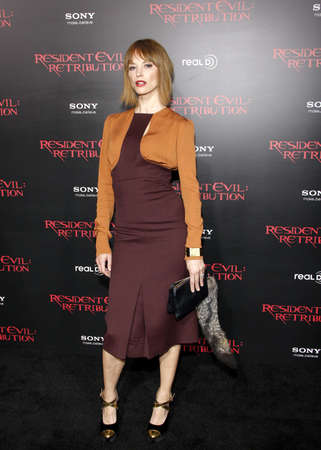 sienna: LOS ANGELES, CA - SEPTEMBER 12, 2012: Sienna Guillory at the Los Angeles premiere of Resident Evil: Retribution held at the Regal Cinemas L.A. Live in Los Angeles, USA on September 12, 2012.