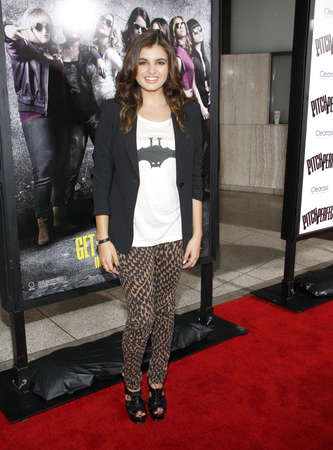 Rebecca Black at the Los Angeles premiere of 'Pitch Perfect' held at the ArcLight Cinemas in Hollywood, USA on September 24, 2012. Sajtókép