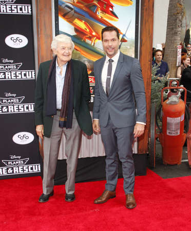 """Hal Holbrook and Dane Cook at the Los Angeles premiere of """"Planes: Fire & Rescue"""" held at the El Capitan Theatre in Los Angeles, United States, 150714."""