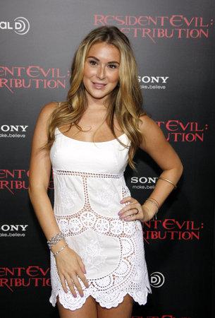 alexa: LOS ANGELES, CA - SEPTEMBER 12, 2012: Alexa Vega at the Los Angeles premiere of Resident Evil: Retribution held at the Regal Cinemas L.A. Live in Los Angeles, USA on September 12, 2012.