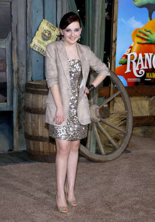 Abigail Breslin at the Los Angeles premiere of 'Rango' held at the Regency Village Theater in Westwood on February 14, 2011.
