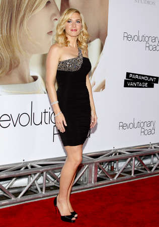 Kate Winslet at the Los Angeles premiere of Revolutionary Road held at the Mann Village Theater in Westwood on December 15, 2008.