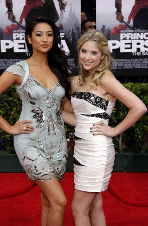 Shay Mitchell and Ashley Benson at the Los Angeles premiere of Prince Of Persia: The Sands Of Time held at the  Graumans Chinese Theatre in Hollywood, USA on May 17, 2010.
