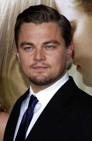 Leonardo DiCaprio at the Los Angeles premiere of Revolutionary Road held at the Mann Village Theater in Westwood on December 15, 2008.