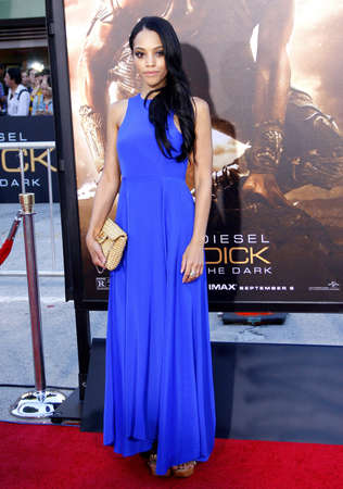"""lawson: Bianca Lawson at the Los Angeles premiere of """"Riddick"""" held at the Regency Village Theatre in Westwood, USA on August 28, 2013."""