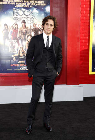HOLLYWOOD, CA - JUNE 08, 2012: Diego Boneta at the Los Angeles premiere of 'Rock of Ages' held at the Grauman's Chinese Theatre in Hollywood, USA on June 8, 2012. 報道画像