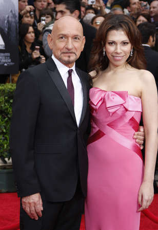 Sir Ben Kingsley and Daniela Lavender at the Los Angeles premiere of 'Prince Of Persia: The Sands Of Time' held at the Grauman's Chinese Theatre in Hollywood, USA on May 17, 2010. 新闻类图片