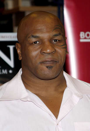promotes: Mike Tyson promotes the Blu-ray and DVD 'Tyson' held at the Borders in Hollywood, USA on August 18, 2009. Editorial