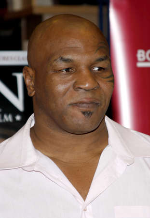 bluray: Mike Tyson promotes the Blu-ray and DVD 'Tyson' held at the Borders in Hollywood, USA on August 18, 2009. Editorial