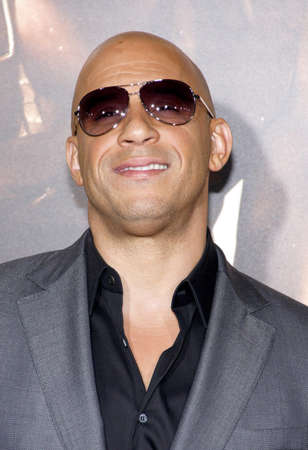 Vin Diesel at the Los Angeles premiere of Riddick held at the Regency Village Theatre in Westwood, USA on August 28, 2013.