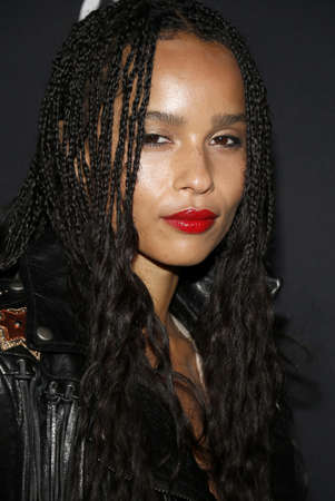 west hollywood: Zoe Kravitz at Zoe Kravitz celebrates her new role with Yves Saint Laurent Beauty held at the Gibson Brands Sunset in West Hollywood, USA on May 18, 2016. Editorial