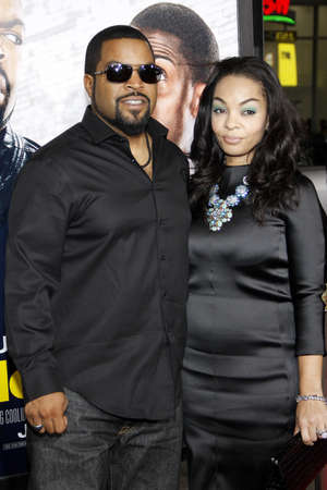 woodruff: Ice Cube and Kimberly Woodruff at the Los Angeles premiere of Ride Along held at the TCL Chinese Theatre in Los Angeles, USA on January 13, 2014. Editorial