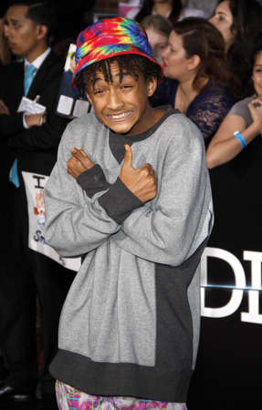 divergent: Jaden Smith at the Los Angeles premiere of Divergent held at the Regency Bruin Theatre in Westwood, USA on March 18, 2014. Editorial