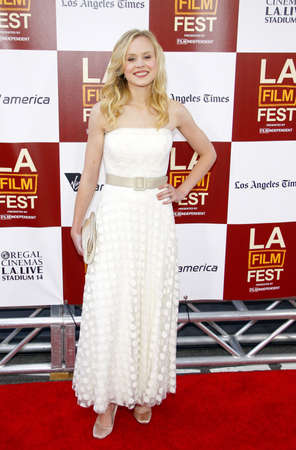 Alison Pill at the 2012 Los Angeles Film Festival premiere of 'To Rome With Love' held at the Regal Cinemas L.A. LIVE Stadium in Los Angeles, USA on June 14, 2012.