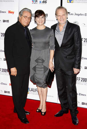 portillo: HOLLYWOOD, CA - OCTOBER 11, 2009: Lluis Homar, Blanca Portillo and Edward James Olmos at the 13th Annual Los Angeles Latino International Film Festival Opening Gala held at the Grauman's Chinese Theater in Hollywood, USA on October 11, 2009. Editorial